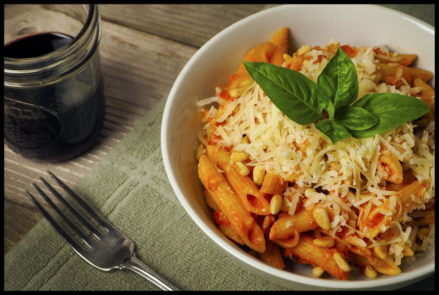 Penne Pasta with Red Sauce