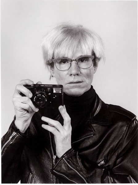 Andy Warhol with Camera