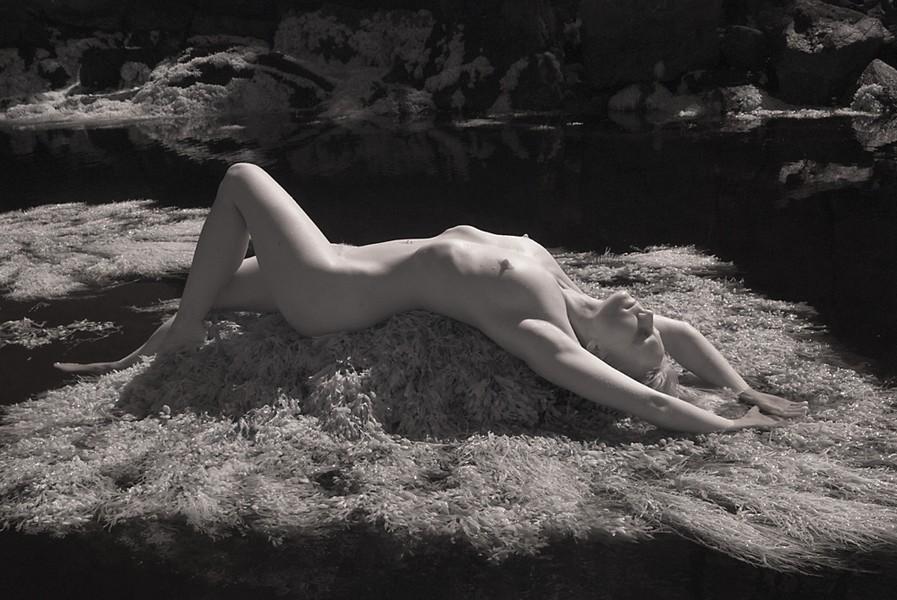 Nude on Rock