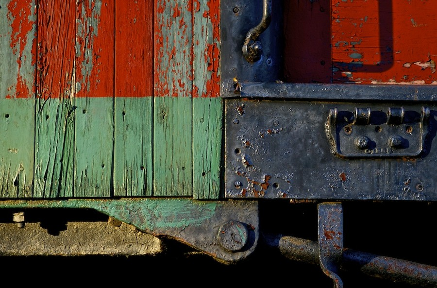 Composition in Green & Red
