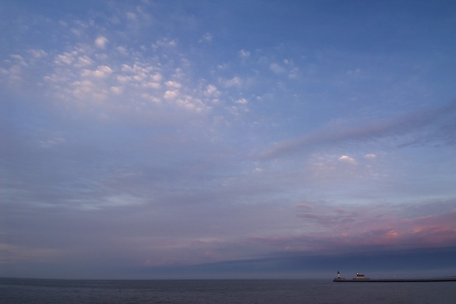 Lake Superior Sunset with Lighthouse