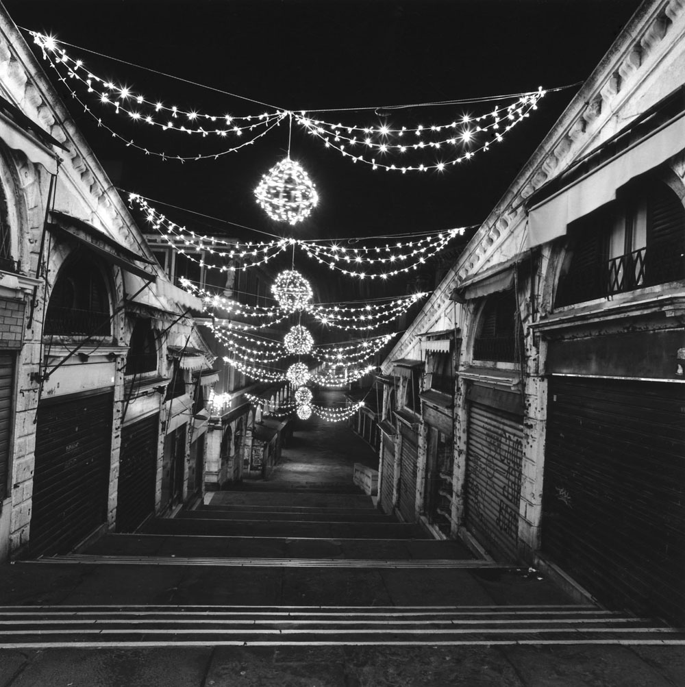 Linda Fitch, Holiday Lights, Rialto Bridge, Venice, Italy