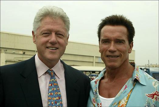 Bill Clinton and Arnold Schwarzenegger