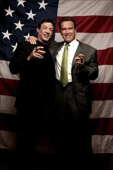 Sylvester Stallone and Gov. Arnold Schwarzenegger