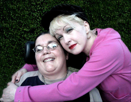 Patti Aronsohn and Cyndi Lauper