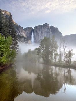 Yosemite Fall, Mist—Yosemite