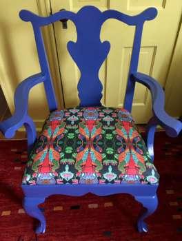Blue Chair, Persephone Upholstry