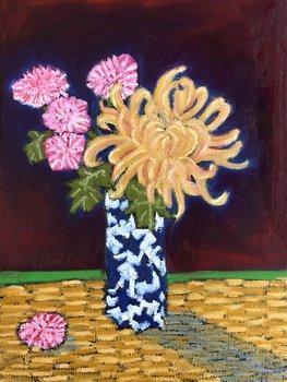 Bouquet on Rattan