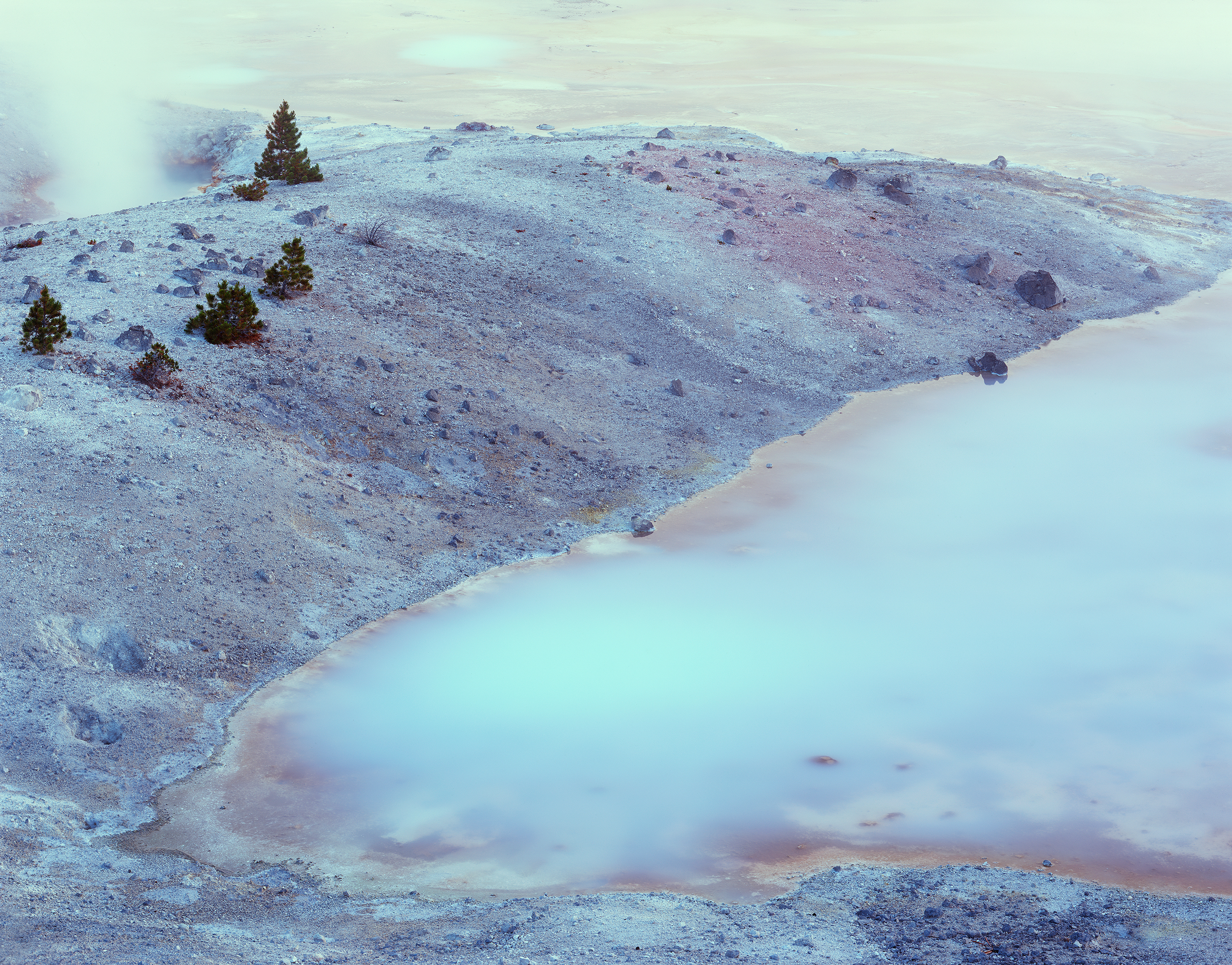 Jim Becia, Pastel Pool - Norris Geyser Basin