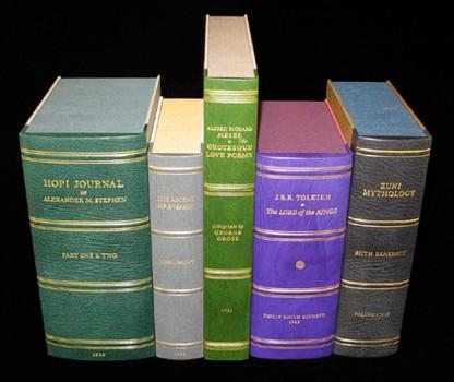 2L-04. Quarter leather boxes for rare books