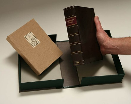 2L-06. Full leather box with leather spine label
