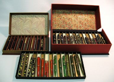 4-25. Custom boxes for fountain pen collection