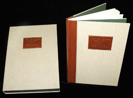 1B-12. Quarter leather binding