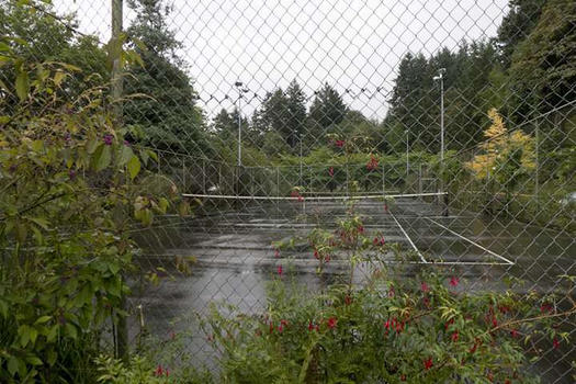 Tennis Court at the Rose Garden, Portland, OR