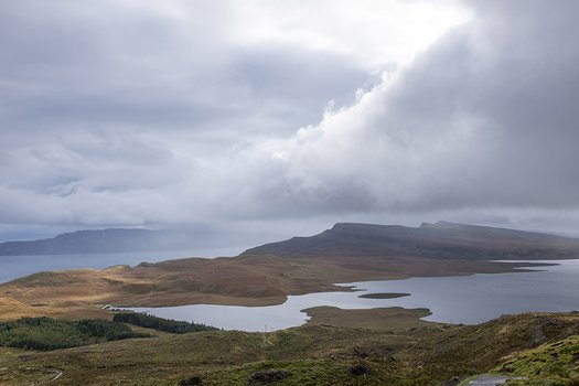 Looking back from the Old Man of Storr, Scotland