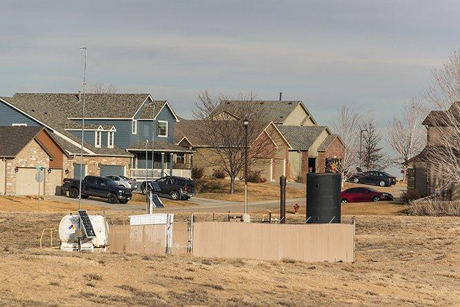 Drill Site Near Homes, Firestone, CO