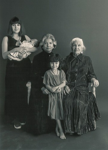 ROSE NARANJO with family, Santa Clara Pueblo 1996