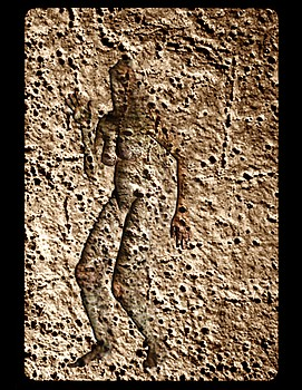 Standing Female Bas Relief