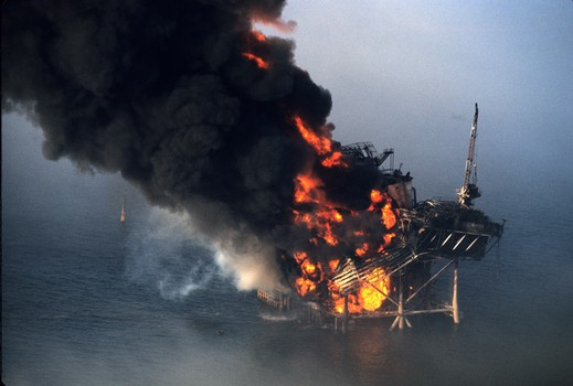 Offshore Oil Rig Fire