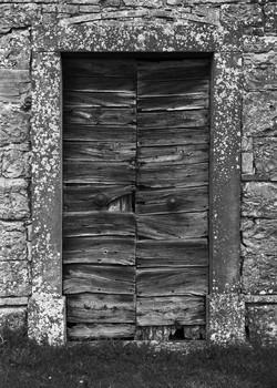 Cemetery Chapel Door. Umbria, Italy. 2006