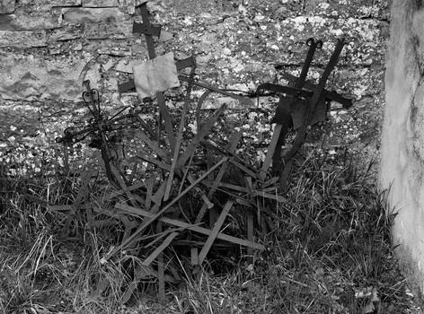 Discarded Crosses. Umbria, Italy. 2006