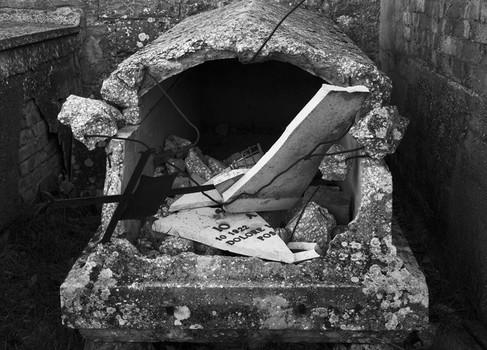 Broken Coffin. Umbria, Italy. 2006