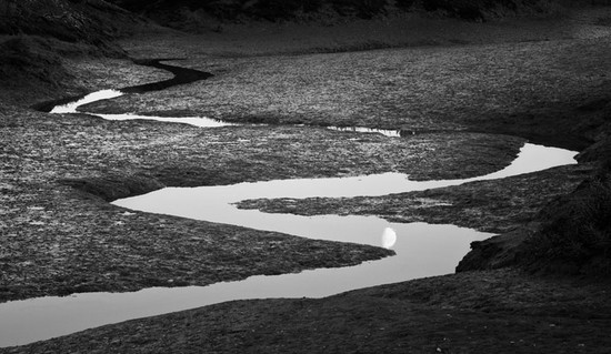 Moon and Tide Channels. Norfolk, England. 2007