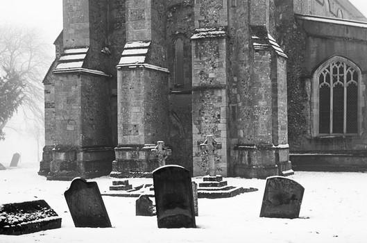 Balsham Church. Winter