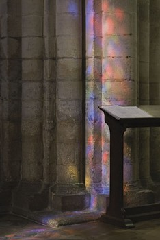 Lectern and Light. Ely Cathedral, England