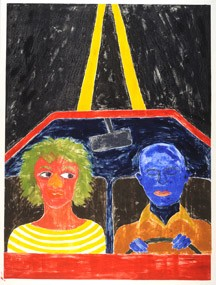 Dream (Cartoon woman and blue man in car)