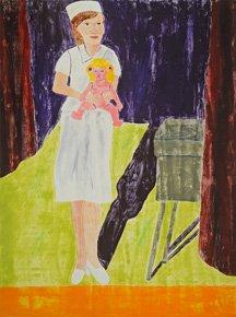 Dream (Nurse holding doll on stage)