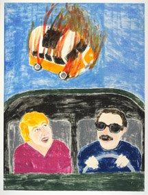Dream (VW bus on fire)