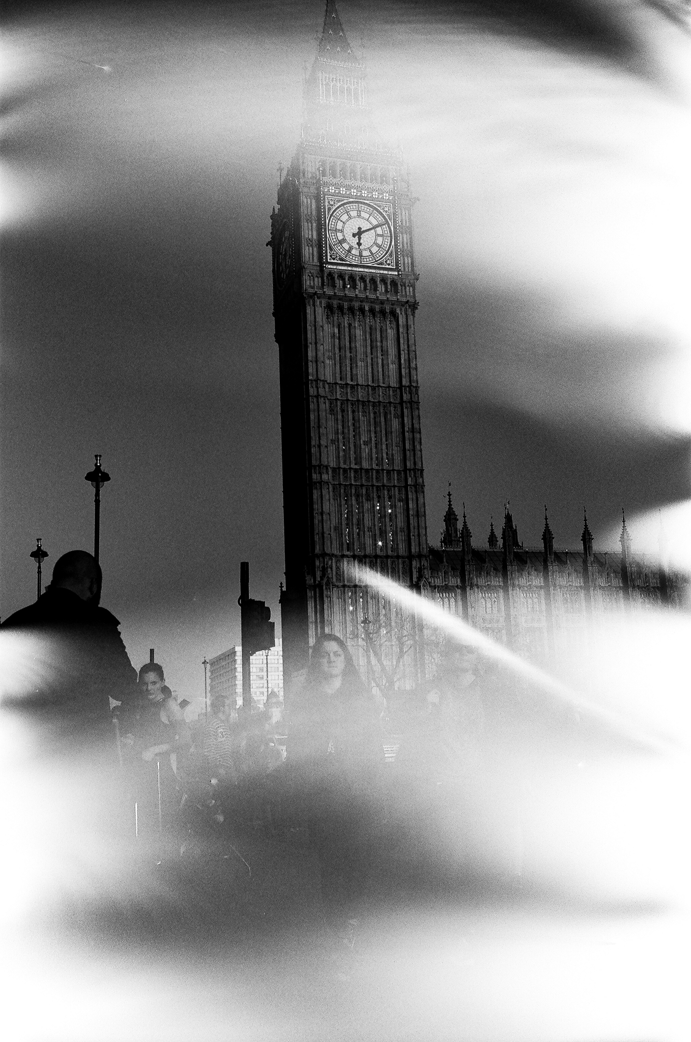 Gordon Ownby, London Tower (Damaged Film)