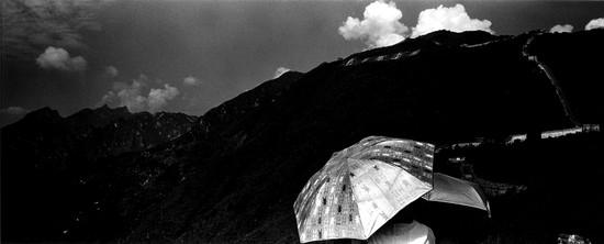 Umbrella and Wall