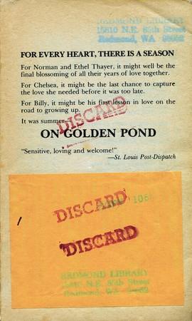 Ernest Thompson's On Golden Pond, 2012