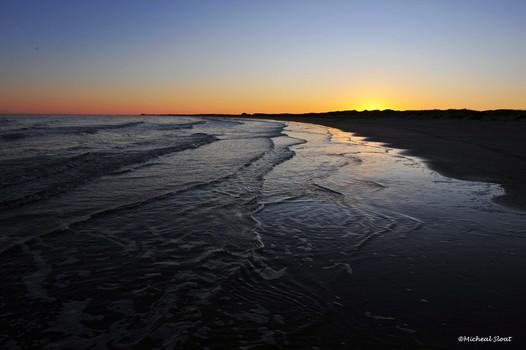 Gulf Waters along Mustang Beach Texas