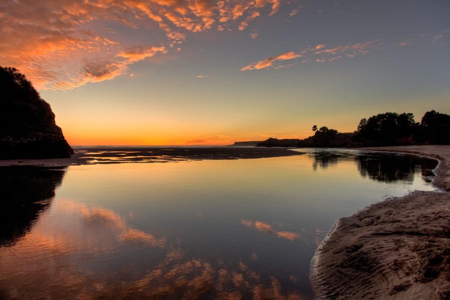 Winter Sunset, Big River Beach