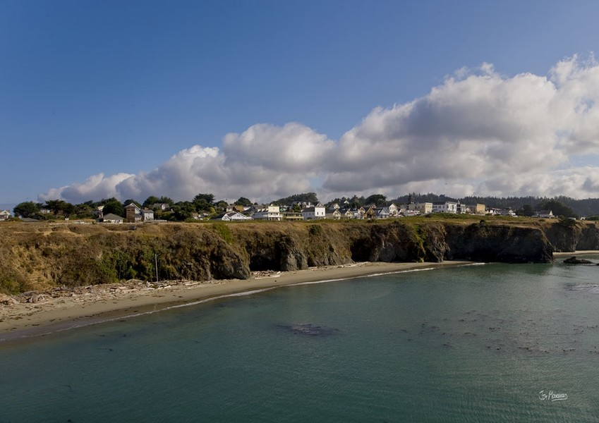 Storm Clearing Mendocino Village