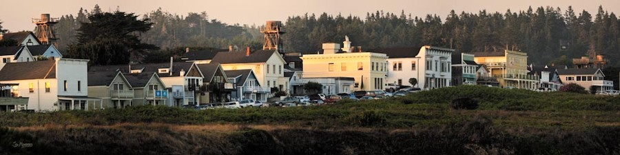 Main Steet Mendocino, Summer Evening
