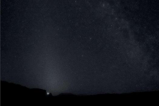 Crescent Moonset, Glen Canyon