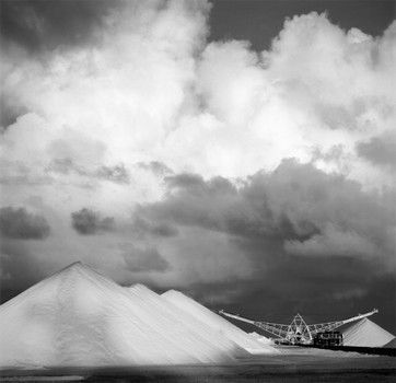 Salt Mounds and Loading Boom