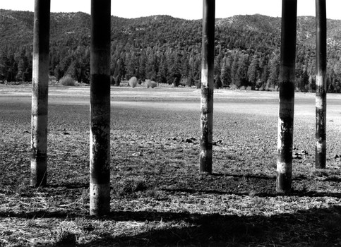 Big Bear Lake during the drought, 2002