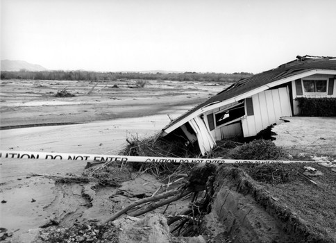 After ther storm, Santa Ana River, Rubidoux, 2005