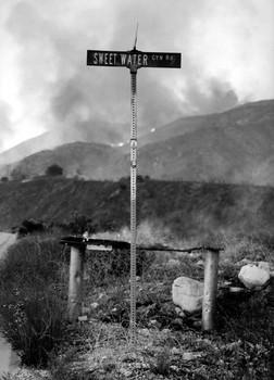 During the Old Fire, San Bernardino, 2003