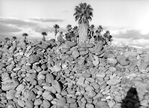 Self Portrait with displaced Santa Ana River rock