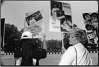 Linda Lewis at the Mother's March Against AIDS
