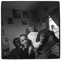 Shirley Campbell with husband Larry and grandkids