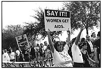 AIDS demonstration, WDC, 1992