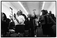 Donna Martinez worshiipping on Christmas, 1994