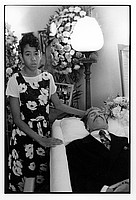 Yakima Sandoval at her father Willie's funeral